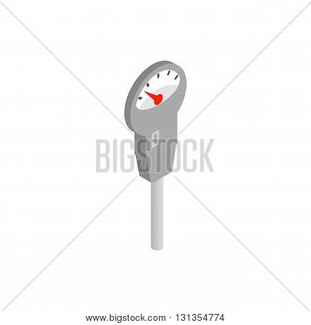 Device for measuring pressure icon in isometric 3d style isolated on white background. Transport and service symbol