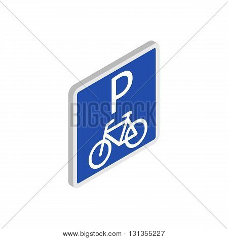 Parking for bicycles icon in isometric 3d style isolated on white background. Transport and service symbol