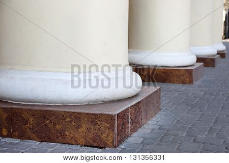 Column bases of an old building