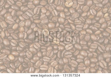 Closeup of faded coffee beans