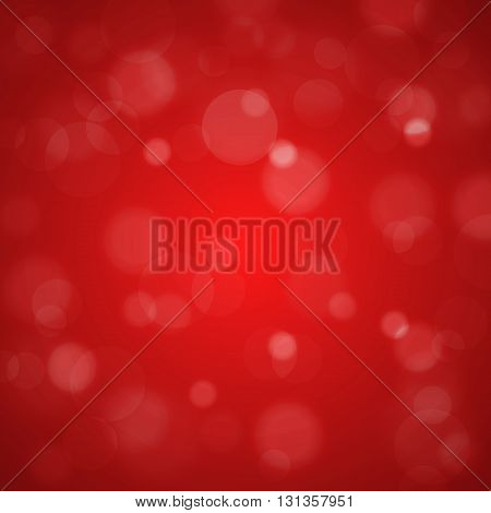 Shiny Bright Red Lights Blurred Background. Vector Illustration