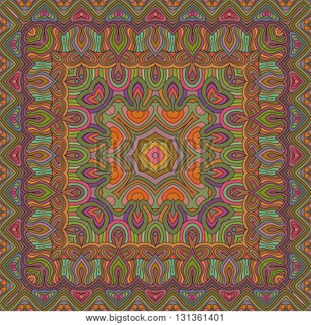 Vector seamless bohemian ornament. Abstract geometric background. Template for the carpet bedspreads mosaics shawls tiles bandana wallpaper.