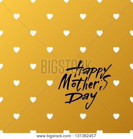 Happy Mother's Day Greeting Card. Mothers day hand lettering handmade calligraphy.