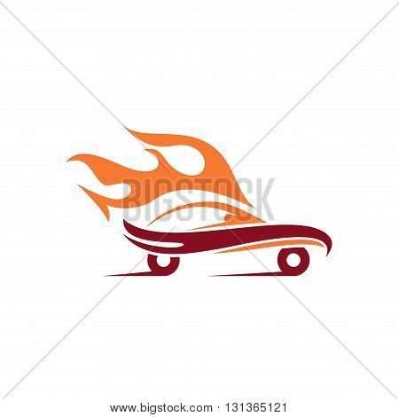 Logo of Auto Fire Flame Car Sport Racing