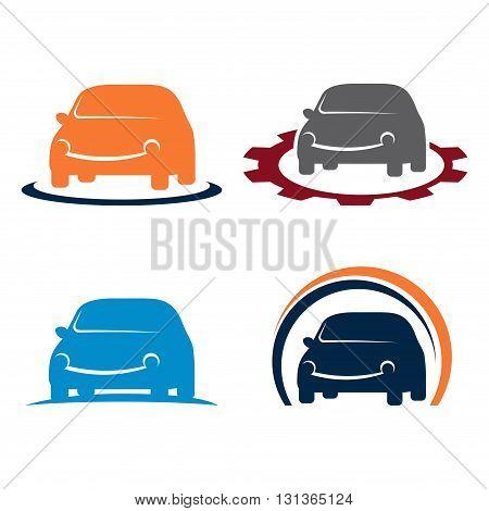 Symbol of Car Automotive Service Care Symbol