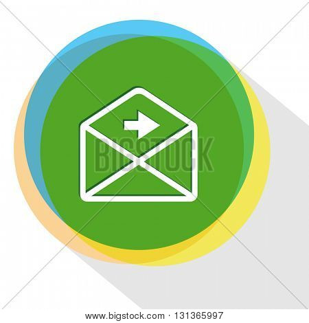 mail right arrow. Internet template. Vector icon.