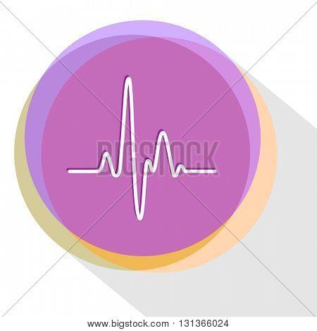 cardiogram. Internet template. Vector icon.