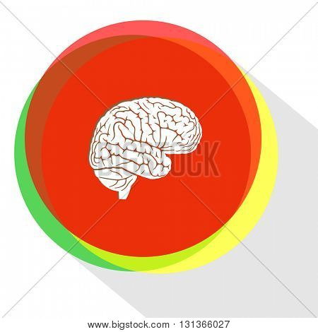 brain. Internet template. Vector icon.