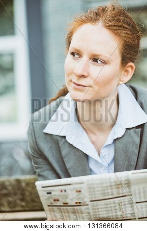 Young Entrepreneur Reading The News