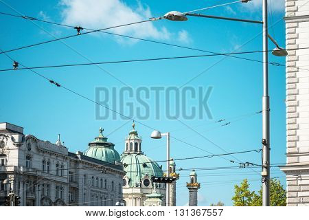 Viennese Classical style building, Austria, Europe