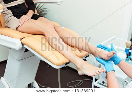 Cleaning of a foot, pleasant and useful procedure.
