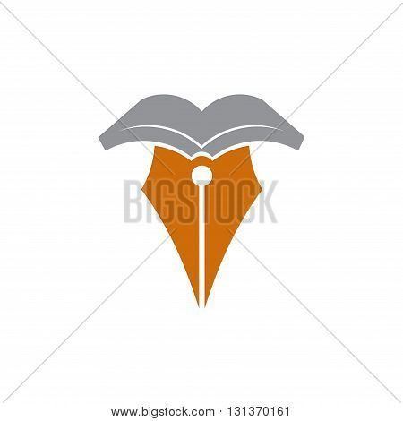 Illustration of Pen Book Author Writer Editor Symbol
