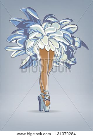 Ballerina - the embodiment of femininity. Vector illustration
