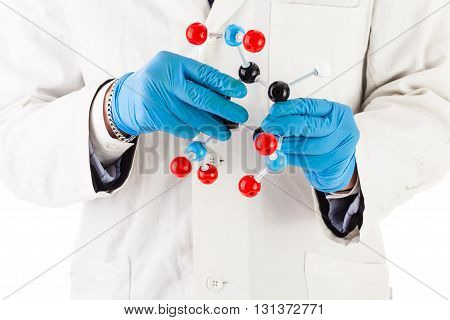 Laboratory Researcher With Tnt Molecule