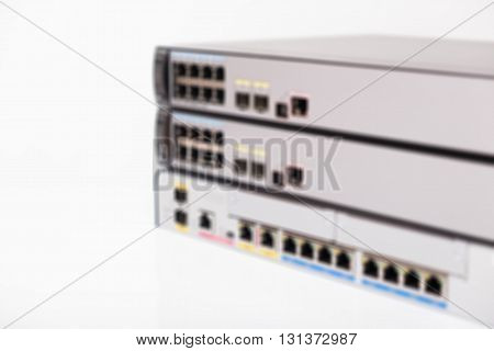 Blur Of Network Switches