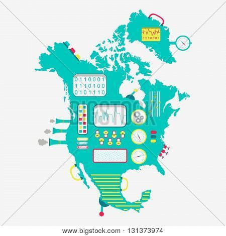 Map Of North America Machine