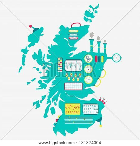 Map Of Scotland Machine