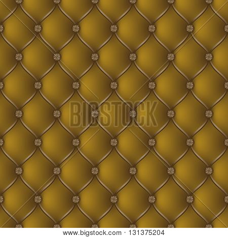 Vector abstract upholstery dark gold background. Can be used in cover design book design website background CD cover advertising.