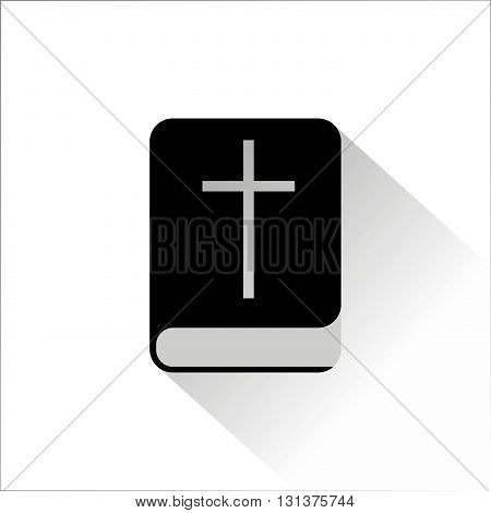Bible single flat icon with shadow. Vector illustration.