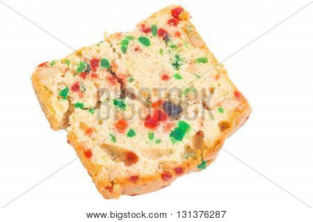 fruit cake isolated on a white background