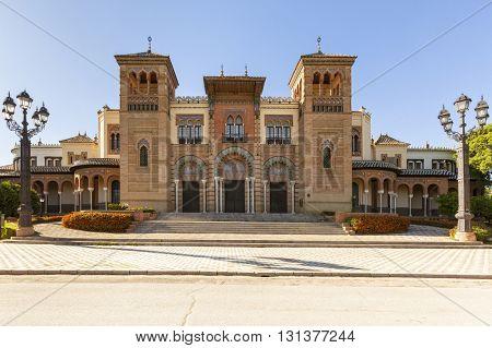 The famous Mudejar pavilion at Maria Luisa Park, Seville, Spain