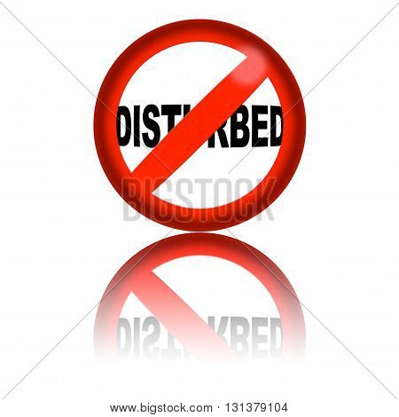 No Disturbed Sign 3D Rendering