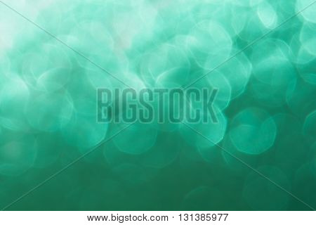 Abstract blurred background. Mint color background. Bokeh.