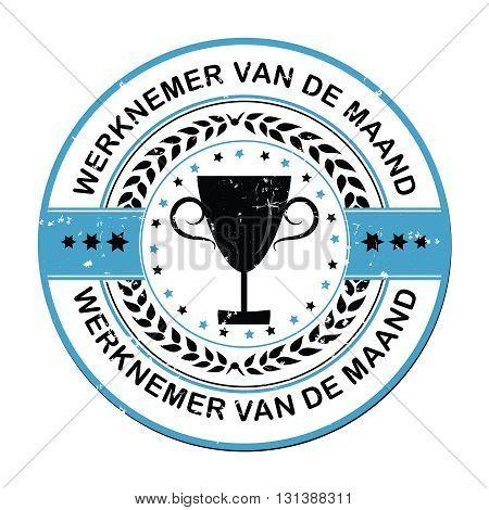 Employee of the Month (Werknemer van de maand), dutch language print label.