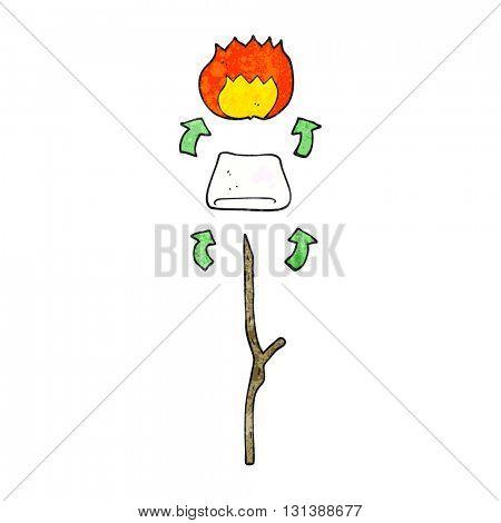 freehand textured cartoon toasted marshmallow