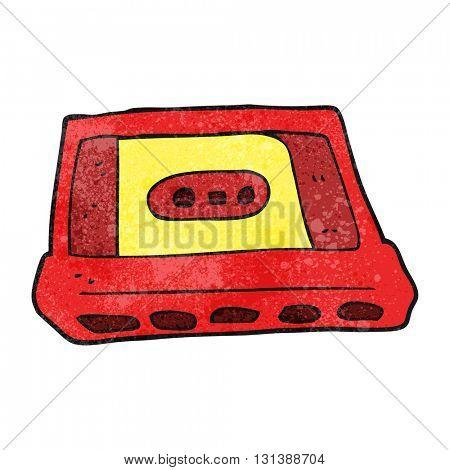 freehand textured cartoon cassette tape