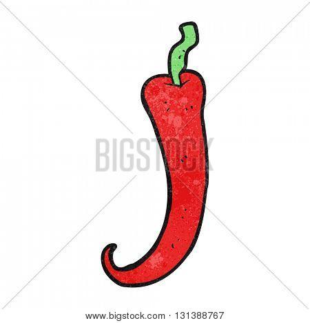 freehand textured cartoon chilli pepper