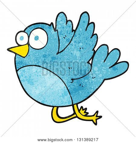 freehand textured cartoon bird