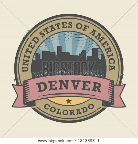 Grunge rubber stamp or label with name of Colorado, Denver, vector illustration