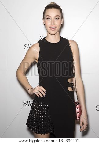 New York City USA - May 24 2016: Whitney Port attends Swarovski #bebrilliant event at The Weather Room - Rockefeller Center