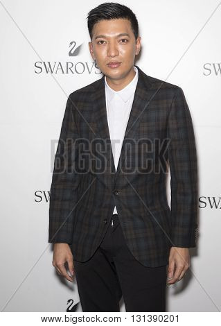 New York City USA - May 24 2016: Bryanboy attends Swarovski #bebrilliant event at The Weather Room - Rockefeller Center