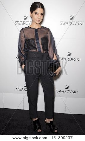 New York City USA - May 24 2016: Lainy Hedaya attends Swarovski #bebrilliant event at The Weather Room - Rockefeller Center