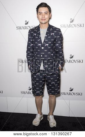 New York City USA - May 24 2016: Gogoboi attends Swarovski #bebrilliant event at The Weather Room - Rockefeller Center