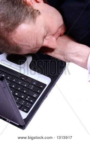 Businessman Fallen Asleep