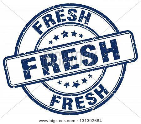 fresh blue grunge round vintage rubber stamp.fresh stamp.fresh round stamp.fresh grunge stamp.fresh.fresh vintage stamp.