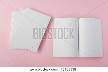 Blank catalog,brochure, magazines,book mock up