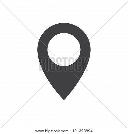Pin icon vector. Flat design style. Pin sign Isolated on white background