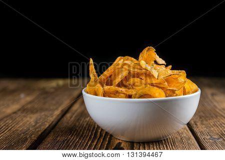 Chilli Potato Chips (close-up Shot)