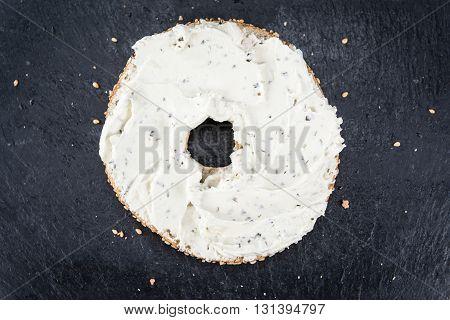 Homemade Cream Cheese Bagel