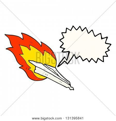 freehand drawn speech bubble cartoon paper plane crashing
