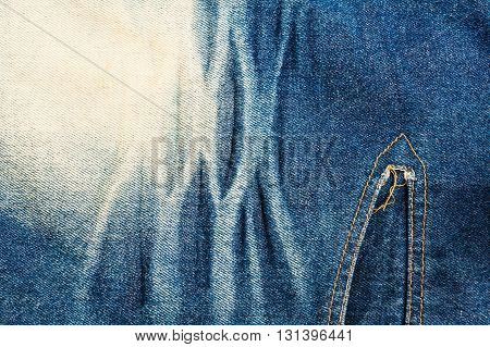Close up texture of blue jean or denim, Blue denim that can be used as background