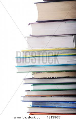 Feck books.Isolated on white.