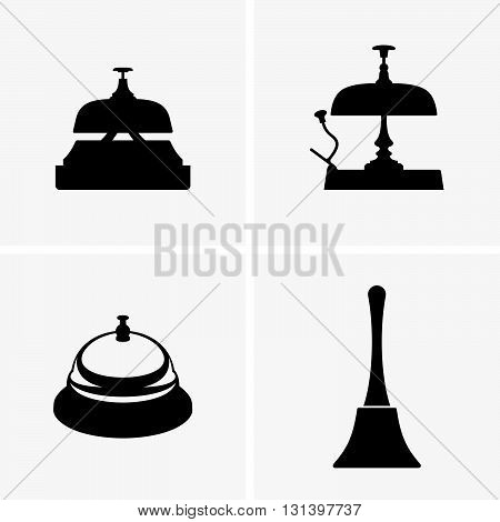 Set of four reception bells ( shade pictures )