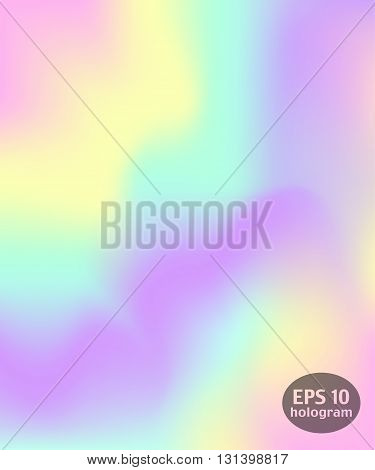 Hologram colorful background. Trendy modern design for print web design filling silhouettes or greeting cards.
