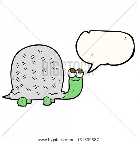 freehand drawn speech bubble cartoon tortoise