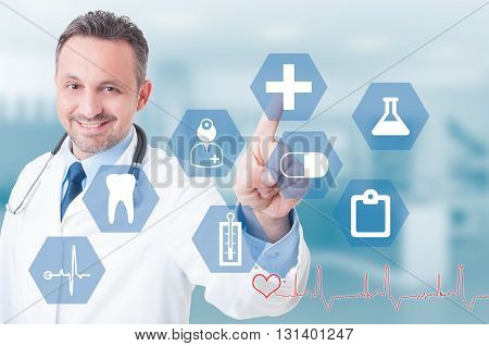 Healthcare And Medical Concept With Successful And Modern Doctor